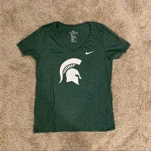 Nike Michigan State V-Neck - Green